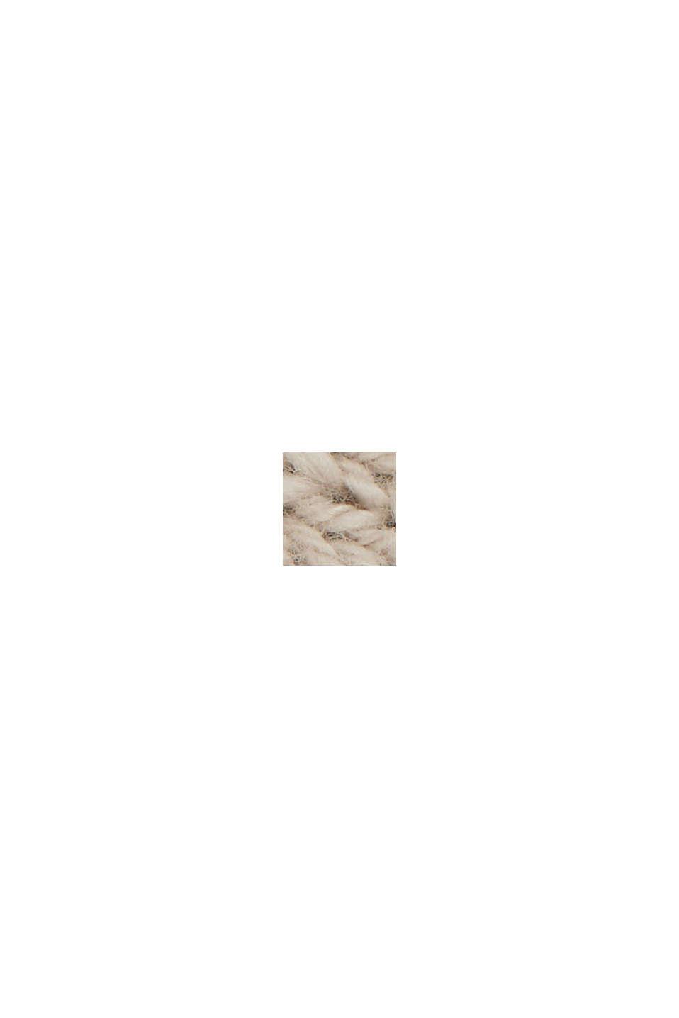 Linen/organic cotton: V-neck jumper, BEIGE, swatch