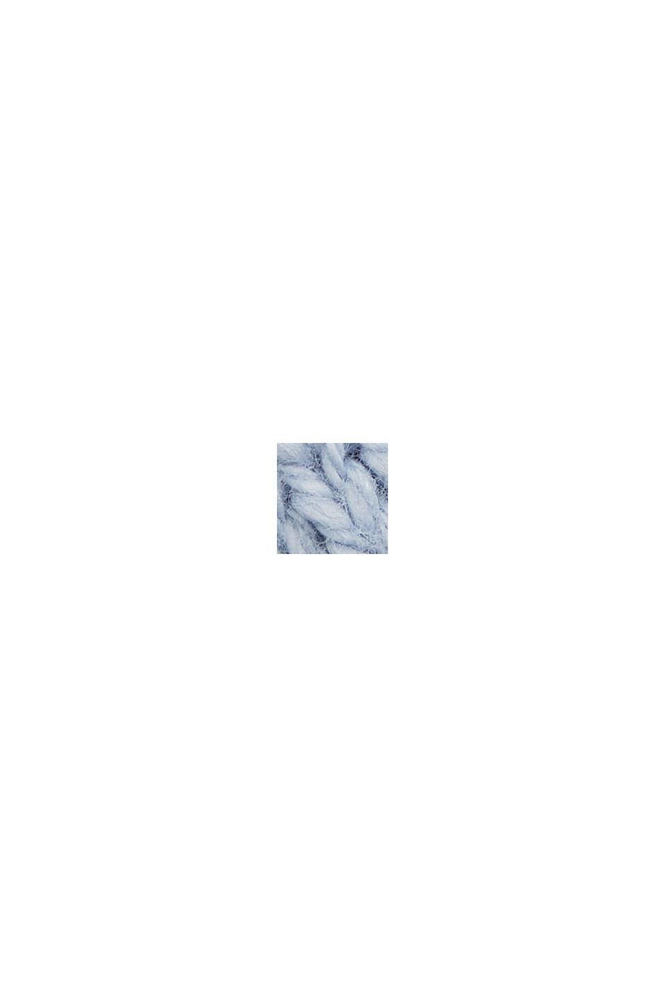 Linen/organic cotton: V-neck jumper, LIGHT BLUE LAVENDER, swatch