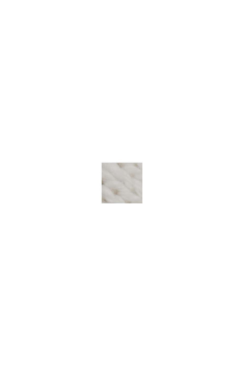 Linne/ekologisk bomull: kofta med V-ringning, OFF WHITE, swatch