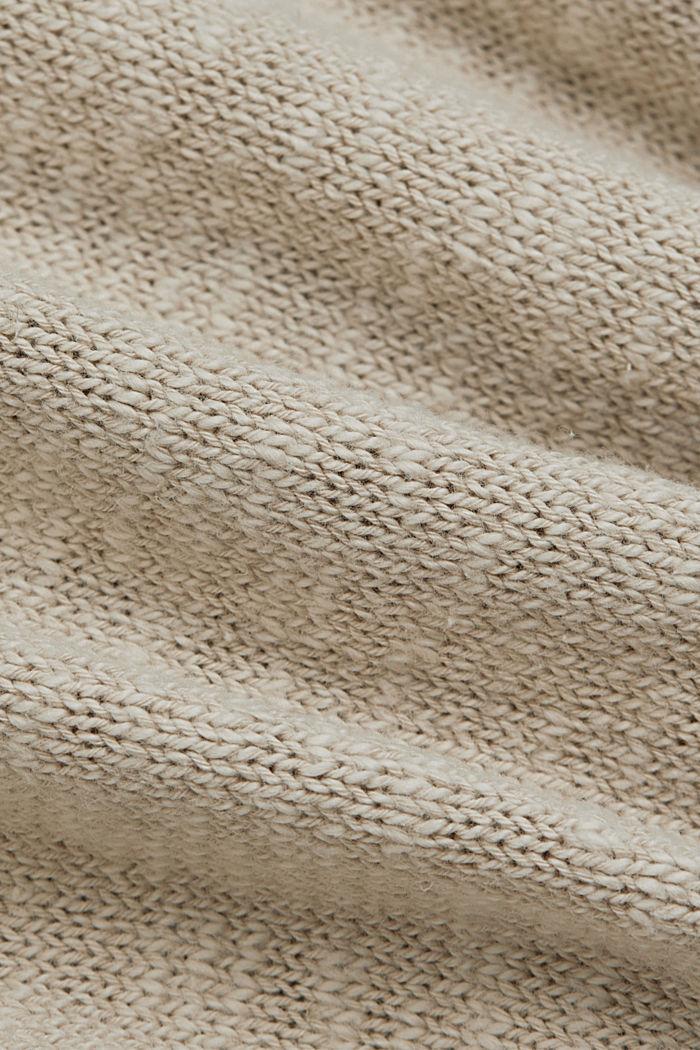 Leinen/Organic Cotton: V-Neck Cardigan, BEIGE, detail image number 4
