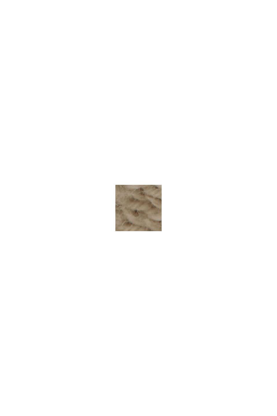 Linne/ekologisk bomull: kofta med V-ringning, BEIGE, swatch