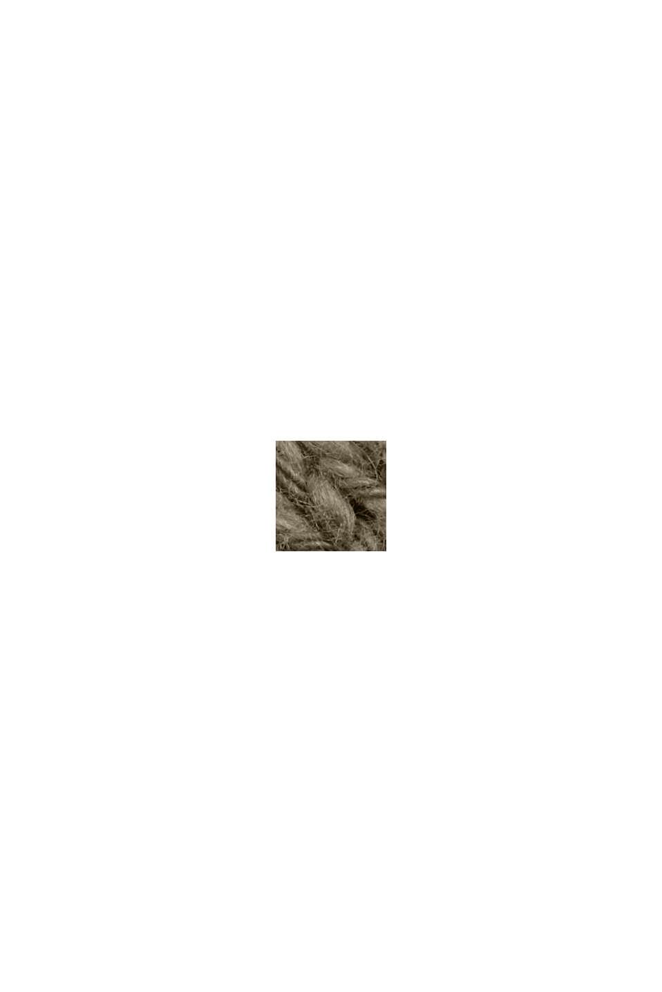 Lino e cotone biologico: cardigan con scollo a V, LIGHT KHAKI, swatch