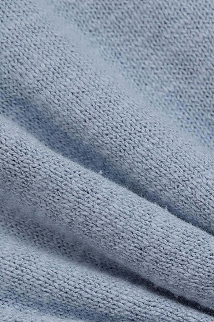 Linen/organic cotton: V-neck cardigan, LIGHT BLUE LAVENDER, detail image number 4