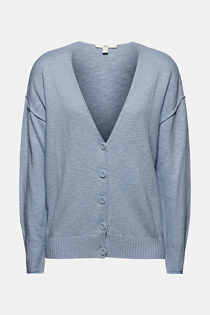 Linen/organic cotton: V-neck cardigan
