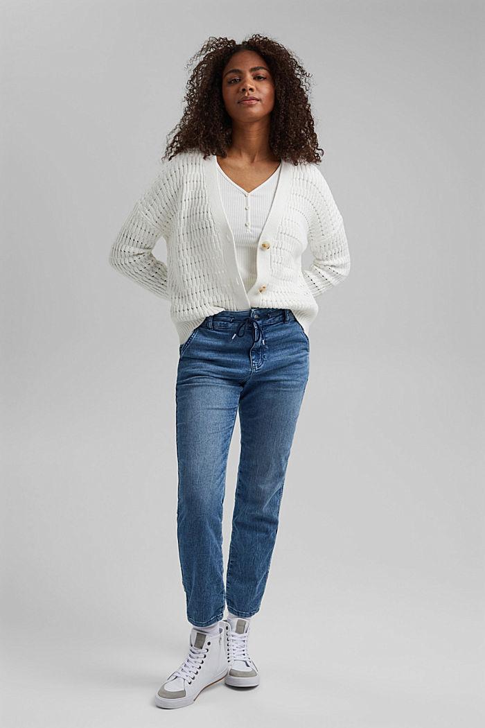 Pointelle-Cardigan aus Organic Cotton, OFF WHITE, detail image number 1