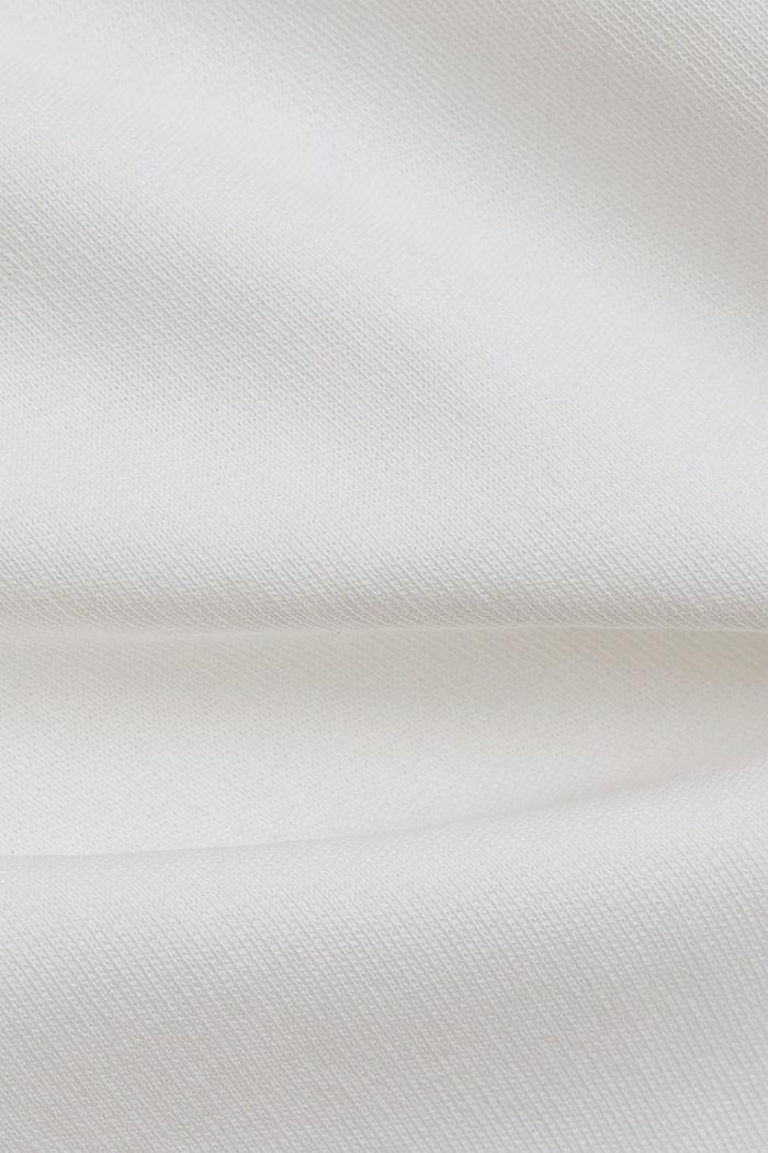 Sudadera de cuello en pico de algodón ecológico, OFF WHITE, detail image number 4