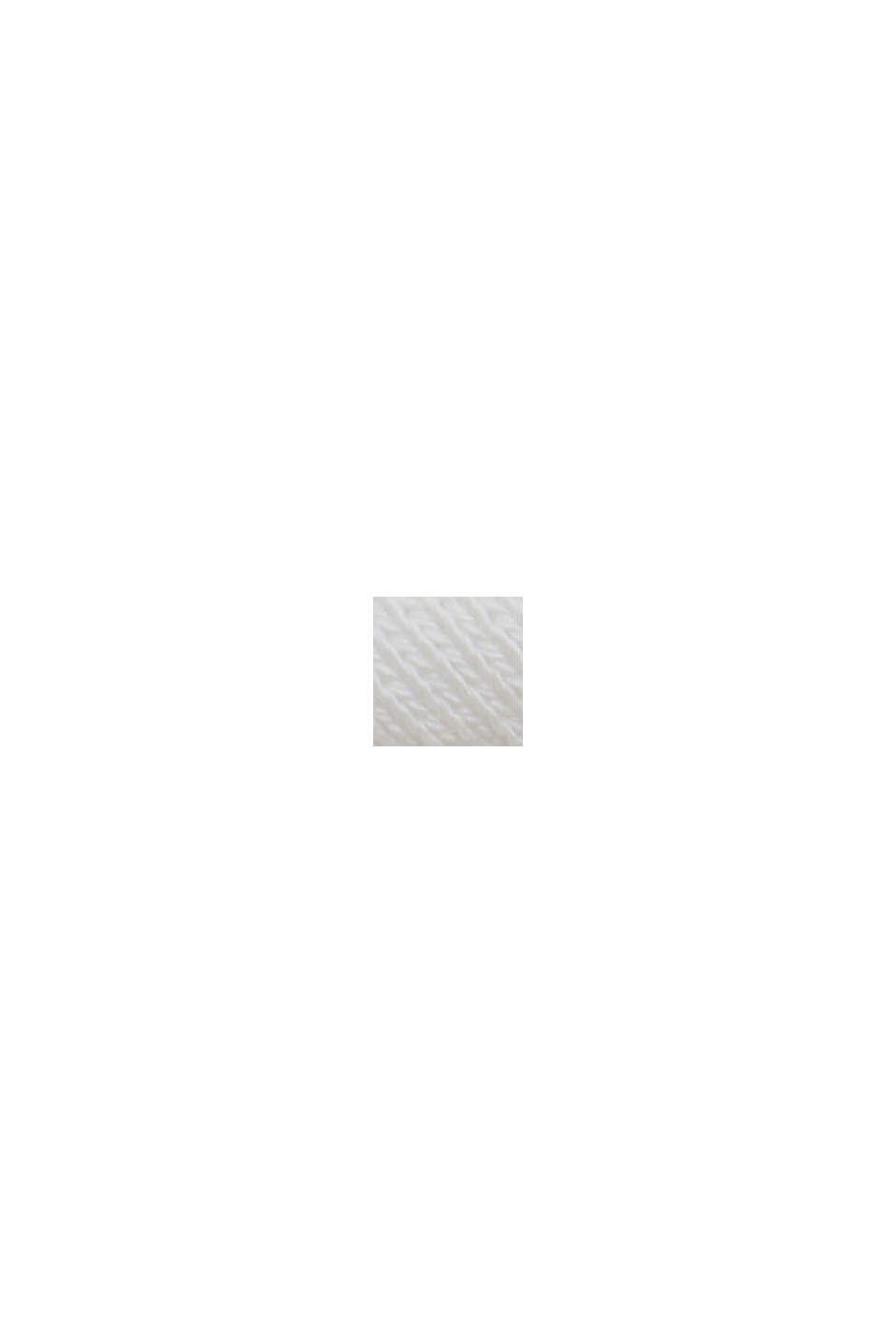 V-ringad sweatshirt av ekologisk bomull, OFF WHITE, swatch