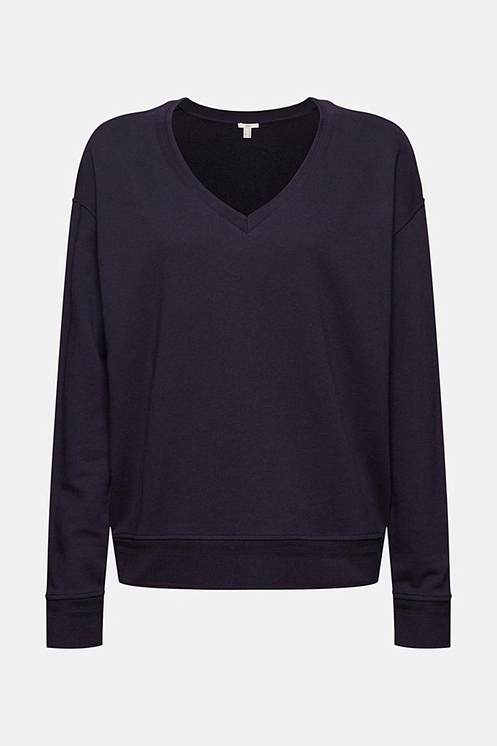 Sweat-shirt à encolure en V en coton biologique