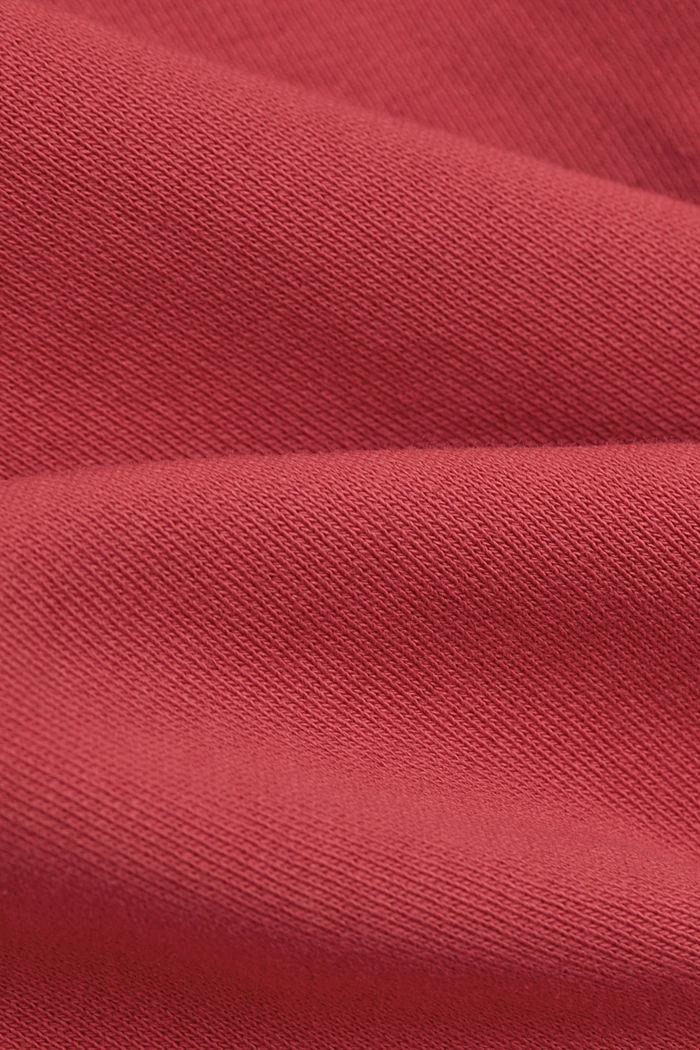 V-Neck Sweatshirt aus Organic Cotton, BLUSH, detail image number 4