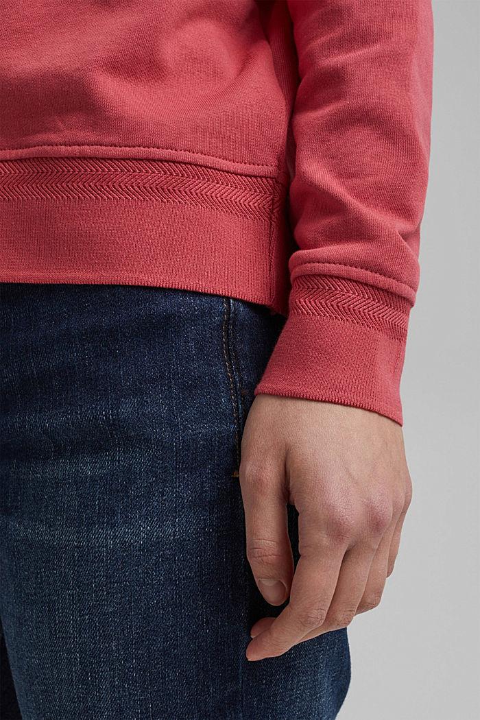 V-Neck Sweatshirt aus Organic Cotton, BLUSH, detail image number 5