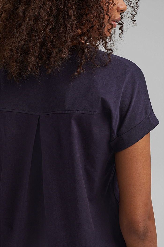 Combi printed top, 100% organic cotton, NAVY, detail image number 5