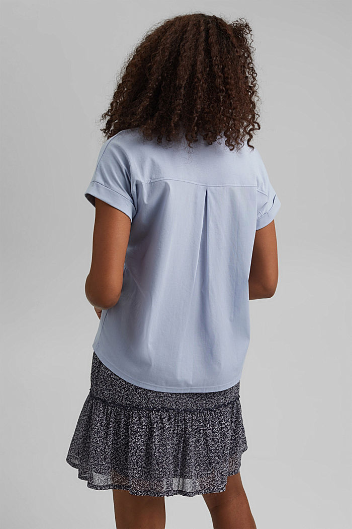 Kombi-Shirt mit Print, 100% Organic Cotton, LIGHT BLUE LAVENDER, detail image number 3