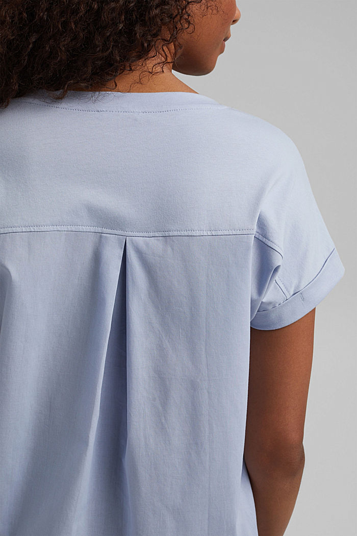 Kombi-Shirt mit Print, 100% Organic Cotton, LIGHT BLUE LAVENDER, detail image number 5