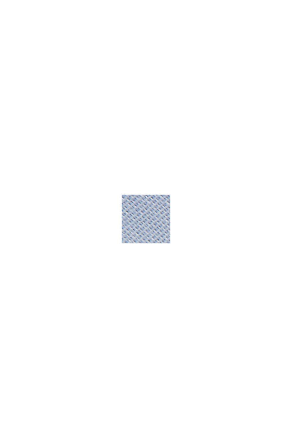 Combi printed top, 100% organic cotton, LIGHT BLUE LAVENDER, swatch