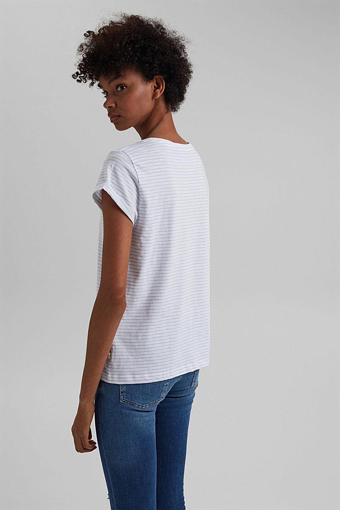 Basic-Shirt mit Streifen, Organic Cotton, WHITE, detail image number 3