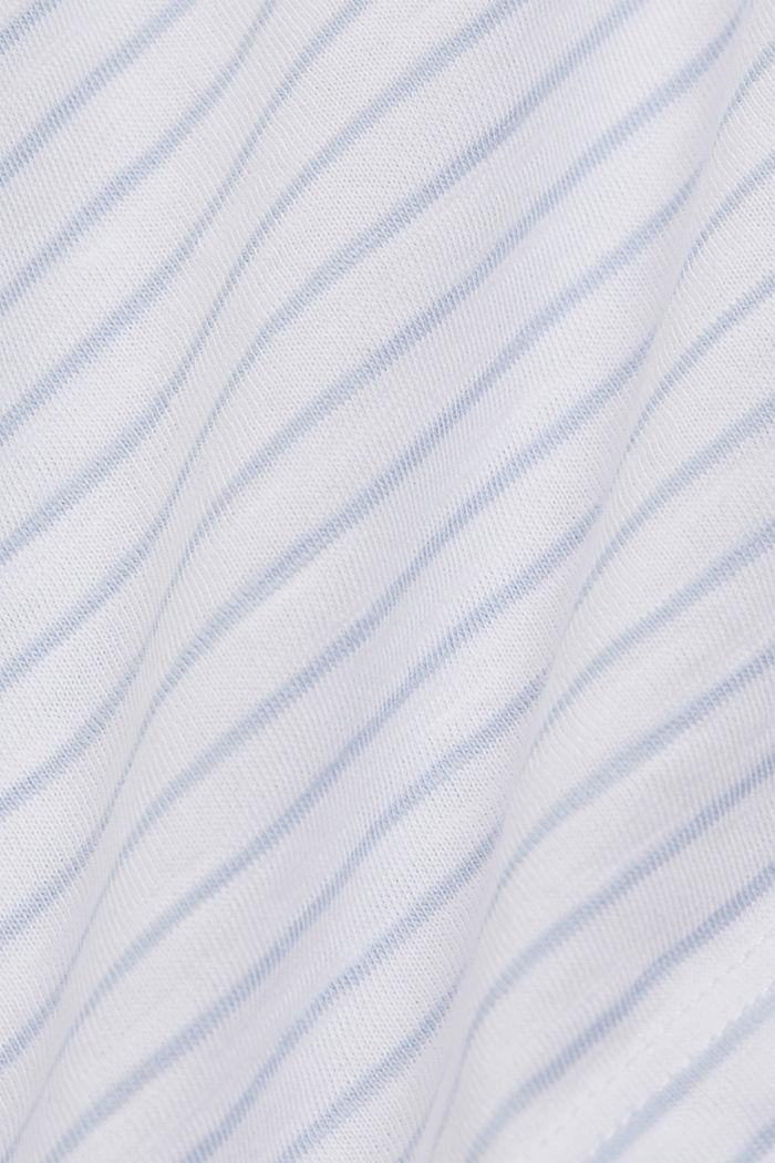 Basic-Shirt mit Streifen, Organic Cotton, WHITE, detail image number 4
