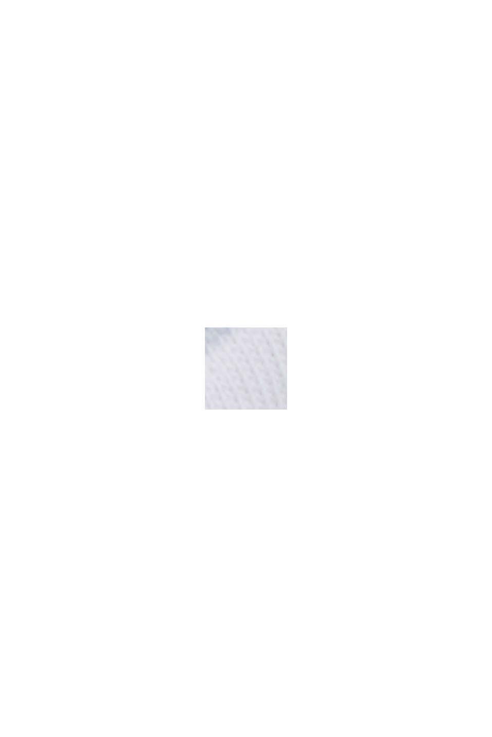 Basic-shirt med striber, økologisk bomuld, WHITE, swatch