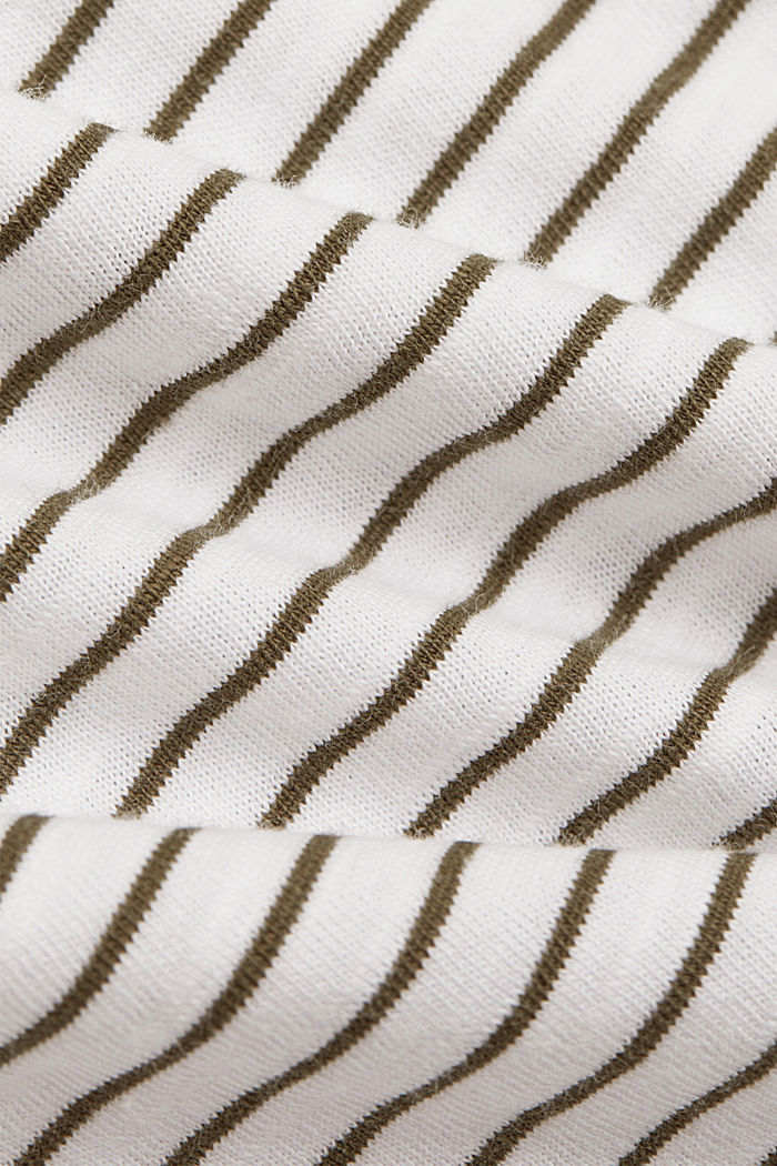 Basic striped top, organic cotton, NEW WHITE, detail image number 4