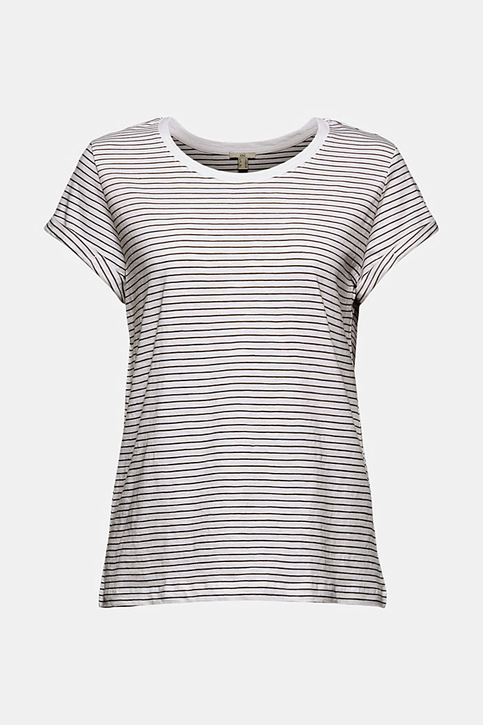 Basic striped top, organic cotton, NEW WHITE, detail image number 5