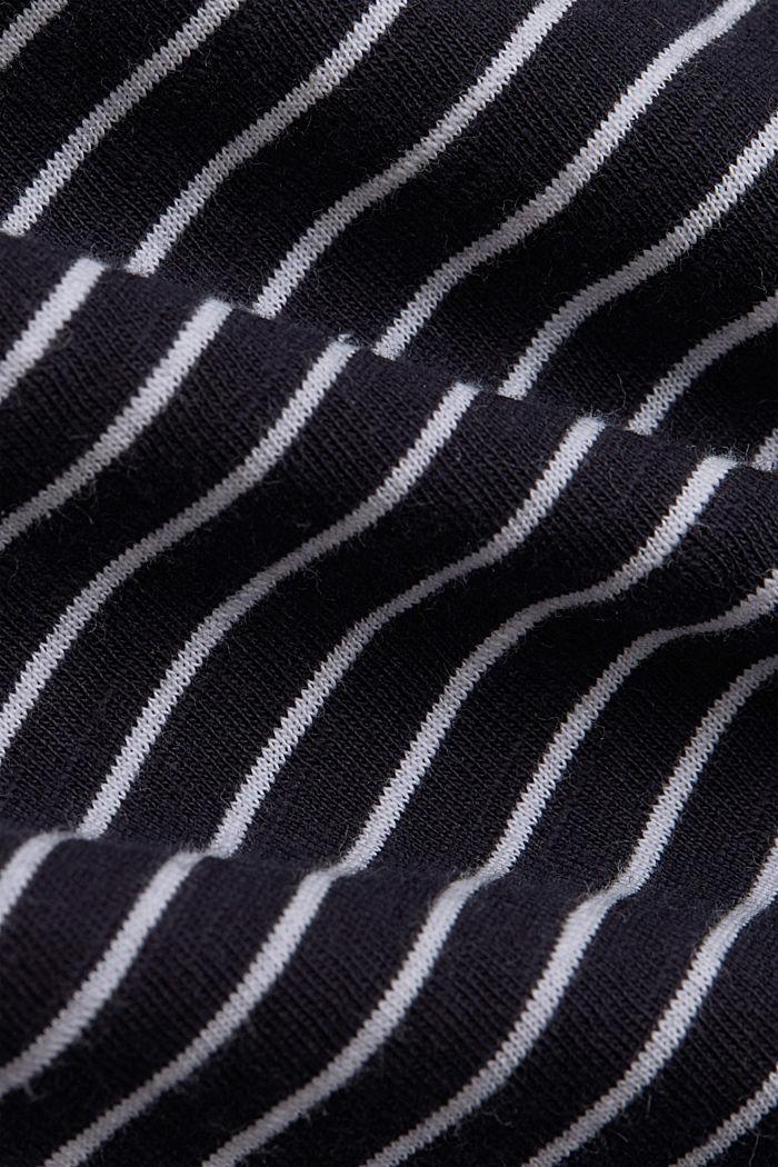Basic-Shirt mit Streifen, Organic Cotton, NAVY, detail image number 4