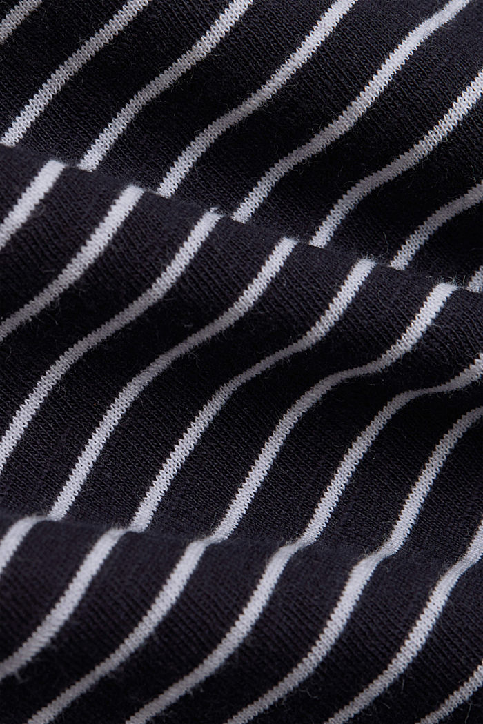 Basic striped top, organic cotton, NAVY, detail image number 4