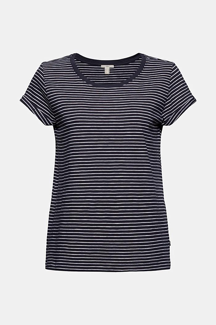 Basic-Shirt mit Streifen, Organic Cotton, NAVY, detail image number 5