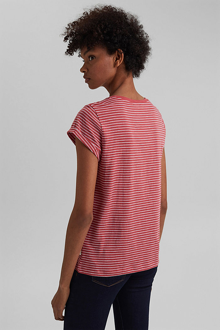Basic striped top, organic cotton, BLUSH, detail image number 3