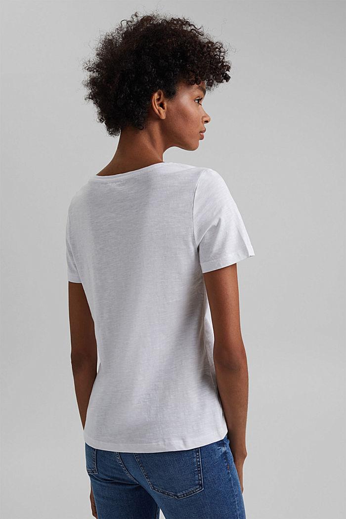 T-Shirt mit Print, 100% Organic Cotton, WHITE, detail image number 3