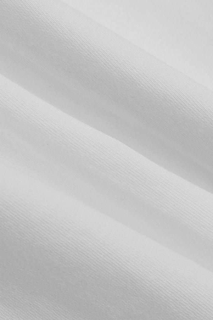 T-Shirt mit Lochspitze, Organic Cotton, OFF WHITE, detail image number 4