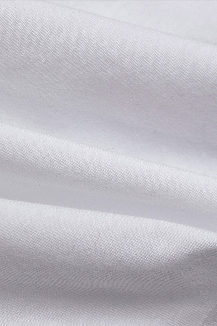 Basic T-shirt with gathering, organic cotton, WHITE, detail image number 4