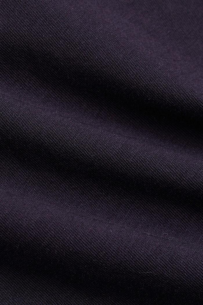 T-shirt med blonder, 100% økologisk bomuld, NAVY, detail image number 4
