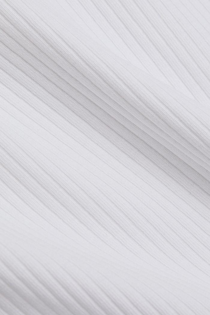 Geripptes Tank-Top mit Spitze, WHITE, detail image number 4