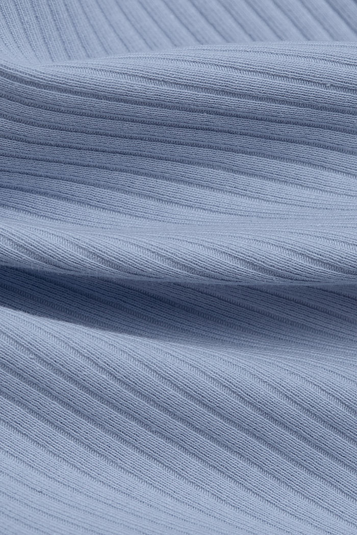 Ribbed sleeveless top with lace, LIGHT BLUE LAVENDER, detail image number 4