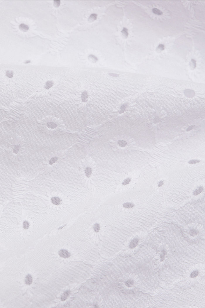 Shirt mit Broderie Anglaise, Organic Cotton, WHITE, detail image number 4