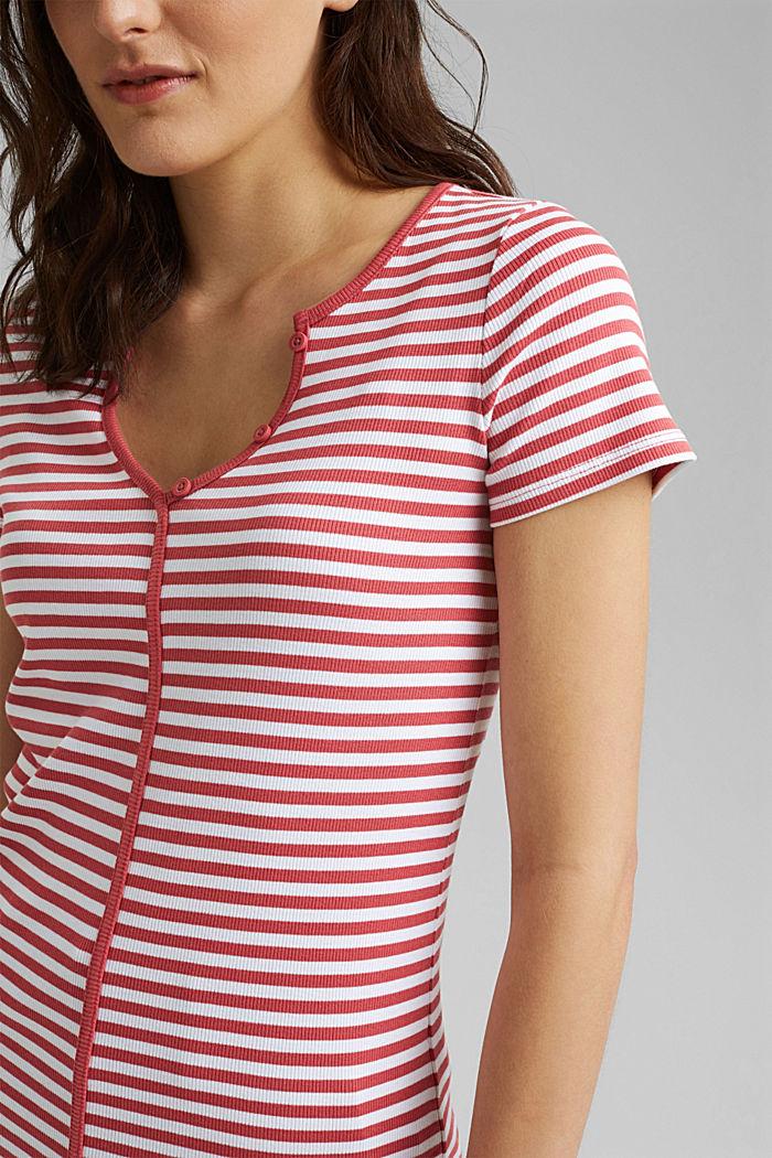 Geripptes T-Shirt mit Kelchkragen, BLUSH, detail image number 2