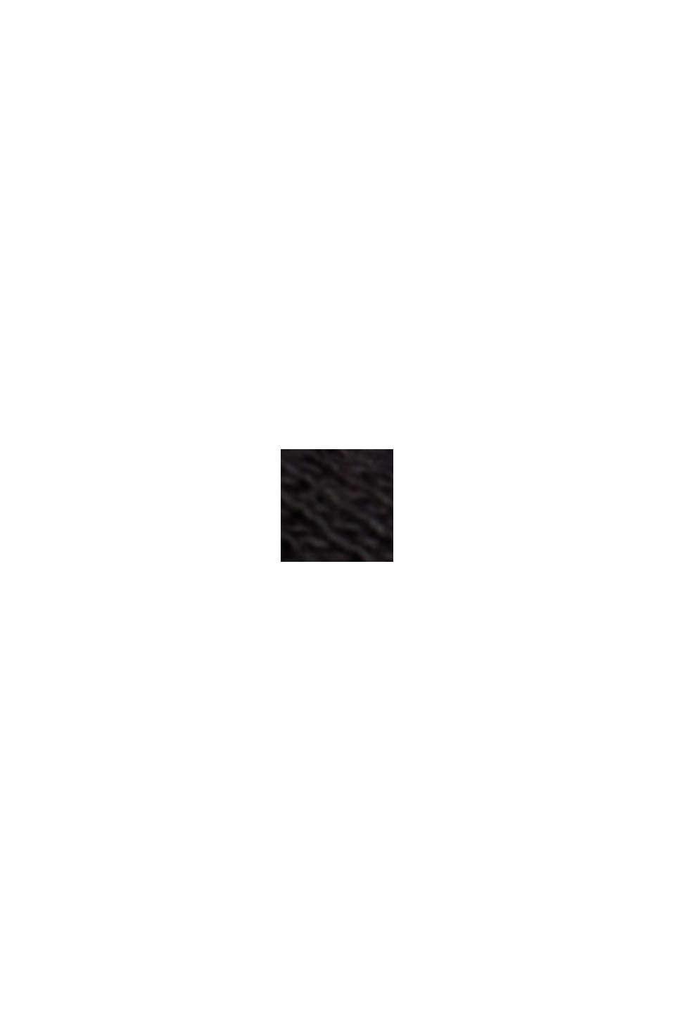 Met linnen: T-shirt van een katoenmix, BLACK, swatch