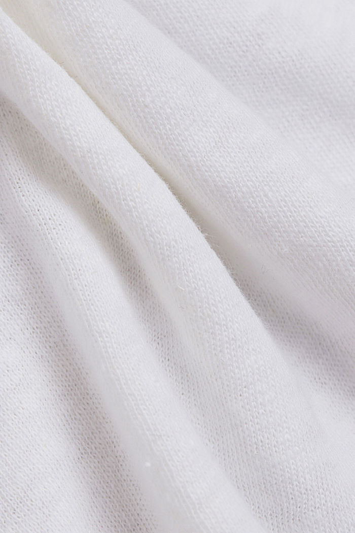 Mit Leinen: T-Shirt aus Baumwoll-Mix, WHITE, detail image number 4