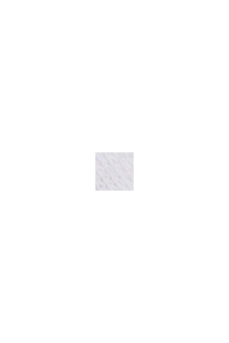 Met linnen: T-shirt van een katoenmix, WHITE, swatch