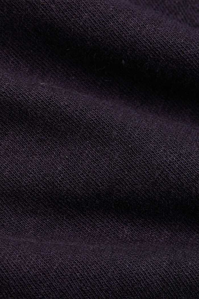 Containing linen: blended cotton T-shirt, NAVY, detail image number 4
