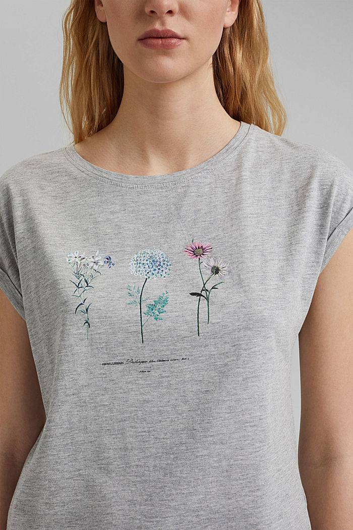 Print t-shirt with organic cotton, LIGHT GREY, detail image number 2