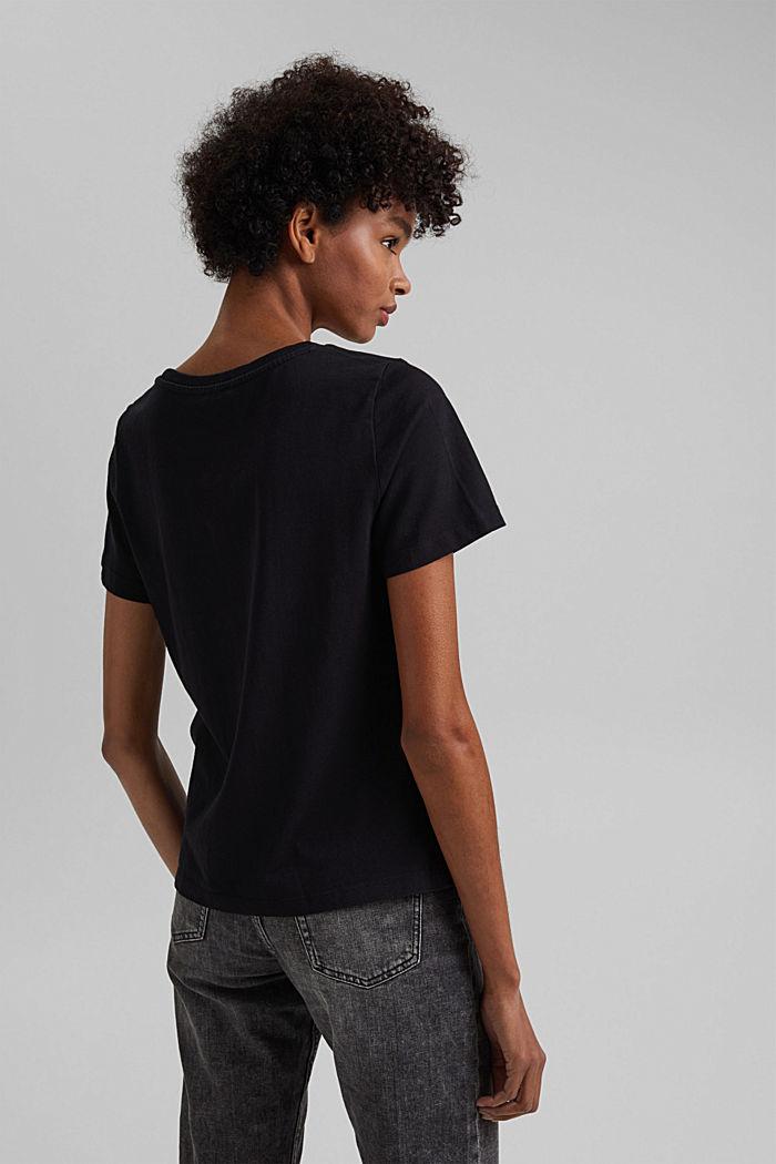 Basic T-Shirt aus 100% Organic Cotton, BLACK, detail image number 3