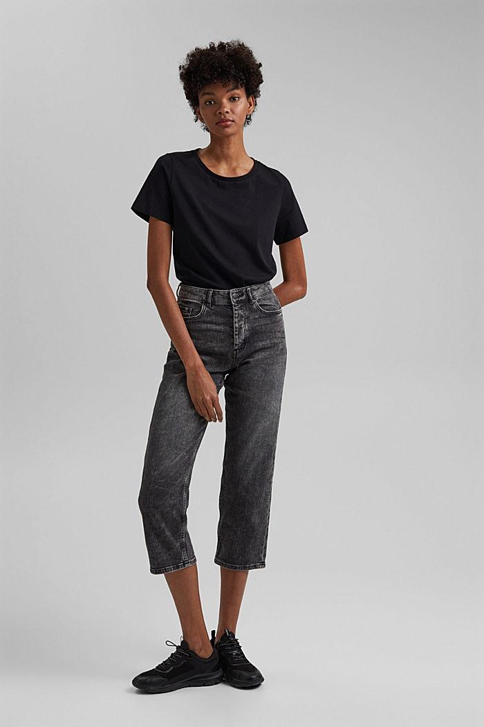 Basic T-Shirt aus 100% Organic Cotton, BLACK, detail image number 1