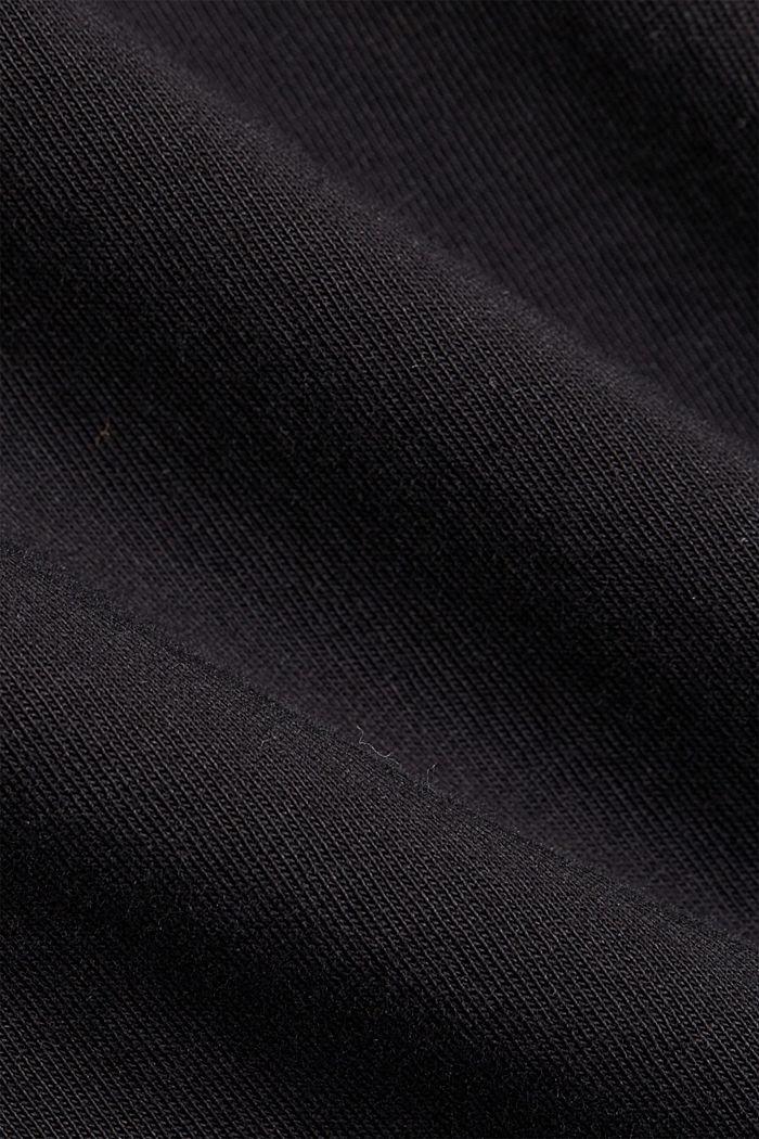 Basic T-Shirt aus 100% Organic Cotton, BLACK, detail image number 4