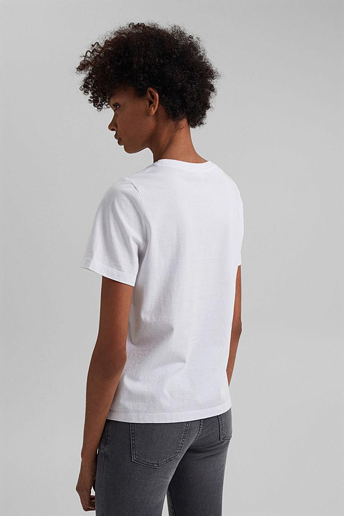 Basic T-Shirt aus 100% Organic Cotton, WHITE, detail image number 3