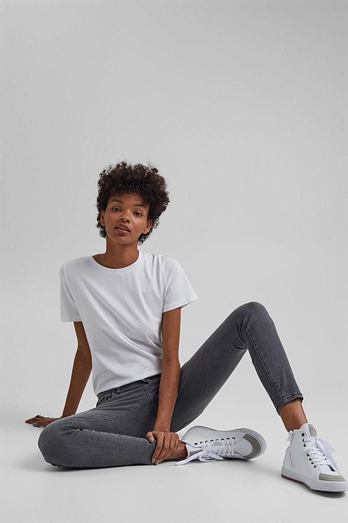 Basic T-Shirt aus 100% Organic Cotton, WHITE, detail image number 5