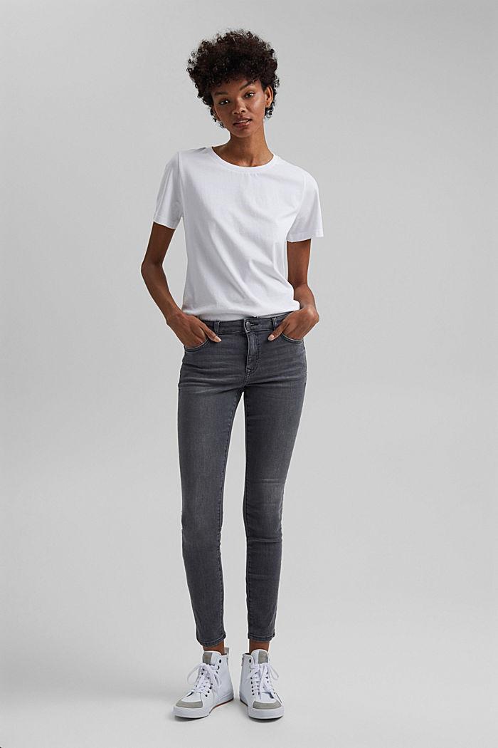 Basic T-Shirt aus 100% Organic Cotton, WHITE, detail image number 1