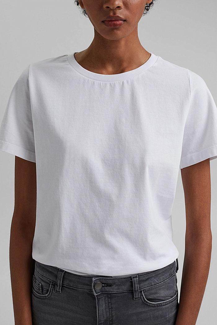 Basic T-Shirt aus 100% Organic Cotton, WHITE, detail image number 2