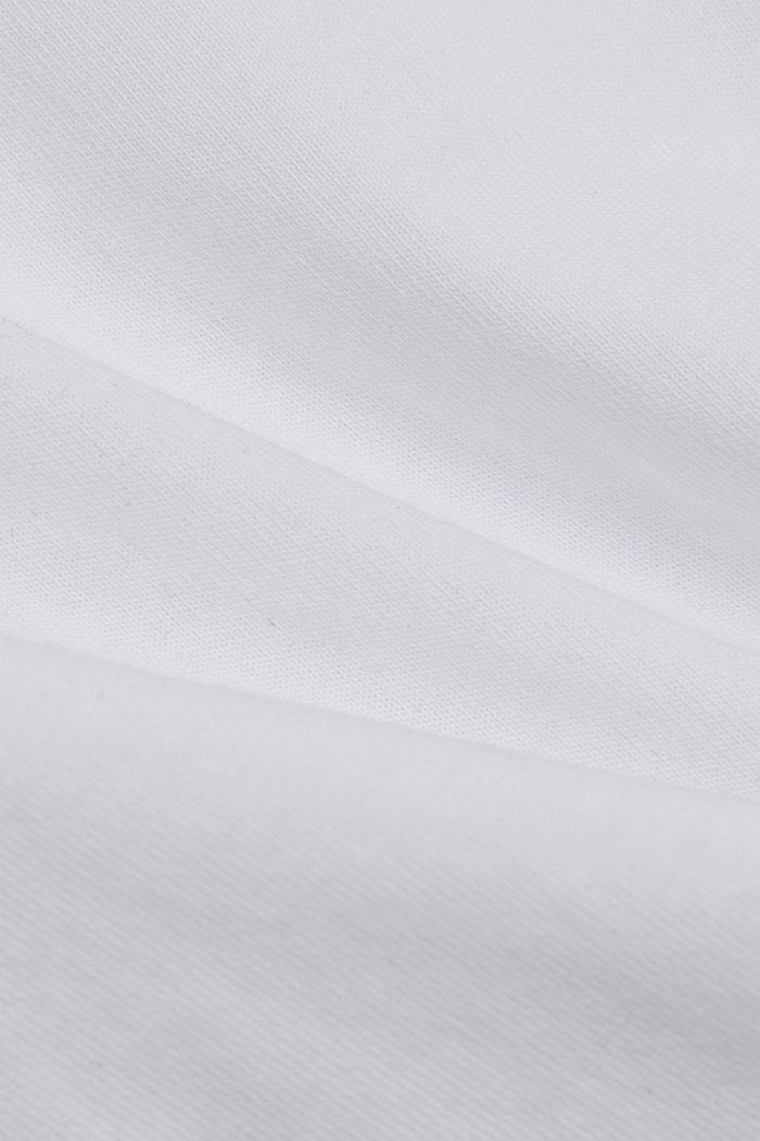 Basic T-Shirt aus 100% Organic Cotton, WHITE, detail image number 4