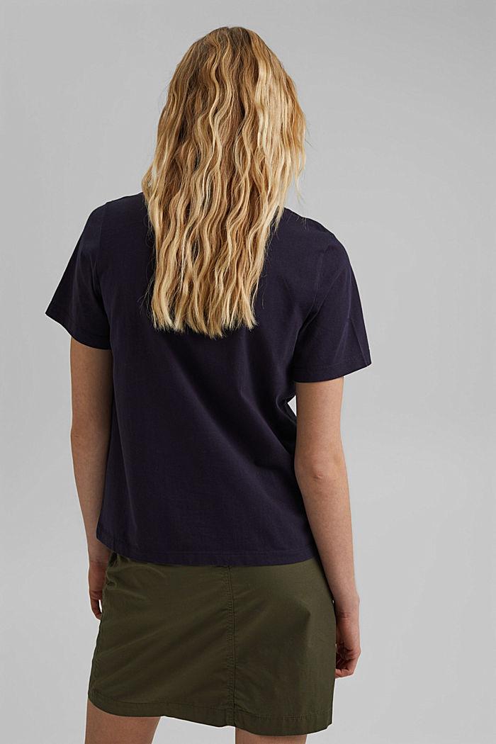 Basic T-Shirt aus 100% Organic Cotton, NAVY, detail image number 3