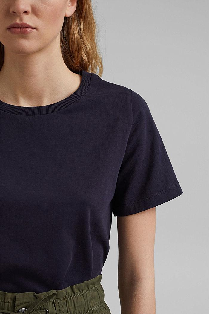 Basic T-Shirt aus 100% Organic Cotton, NAVY, detail image number 2